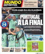 عناوین روزنامه ال موندو دپورتیوو اسپانیا 17 تیر 95