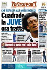 عناوین روزنامه توتو اسپورت ایتالیا 19 تیر 95