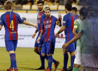 خلاصه بازی دوستانه تیم های الاهلی عربستان و بارسلونا