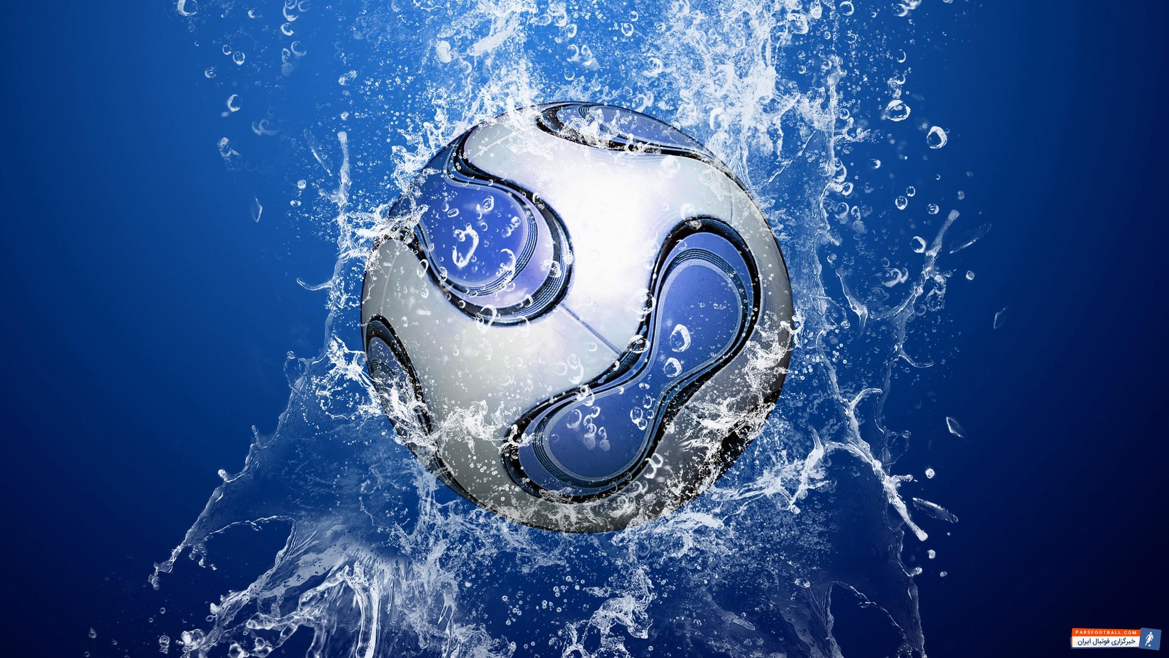 مجموعه ای شامل سه تصویر ویژه بک گراند کامپیوتر از توپ فوتبال