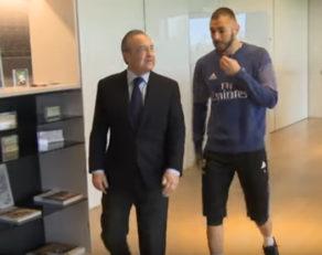 دریافت پیراهن شماره 350 رئال مادرید توسط کریم بنزما