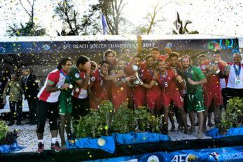 جشن قهرمانی تیم ملی فوتبال ساحلی ایران