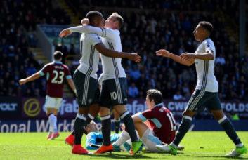 خلاصه بازی برنلی مقابل منچستریونایتد در لیگ برتر انگلیس