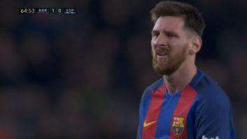 عملکرد مسی بازیکن بارسلونا در دیدار برابر اسپانیول