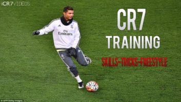 مهارت های رونالدو در تمرینات رئال مادرید