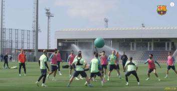 تمرین داج بال بازیکنان بارسلونا