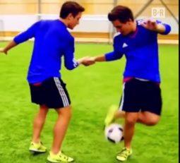 تکنیکی ترین دو قلوهای جهان فوتبال