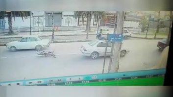 کلیپی از یک تصادف عجیب در یکی از شهرهای ایران