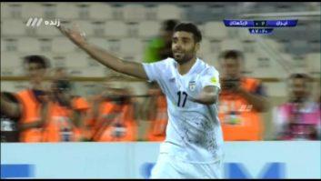 کلیپی از گل دوم تیم ملی ایران به ازبکستان در بازی های مقدماتی جام جهانی 2018 روسیه 22 خرداد 96