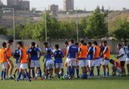 تمرین تیم فوتبال استقلال در ارمنستان
