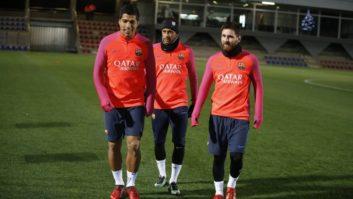 تمرین بارسلونا در تور پیش فصل در آمریکا