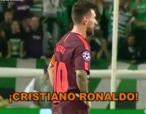 تشویق رونالدو توسط هواداران اسپوزتینگ لیسبون جلوی چشمان مسی