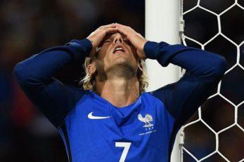 خوشحالی بازیکنان لوگزامبورگ از تساوی برابر فرانسه