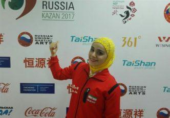 کسب مدال نقره توسط زهرا کیانی در رقابت های ووشوی قهرمانی جهان