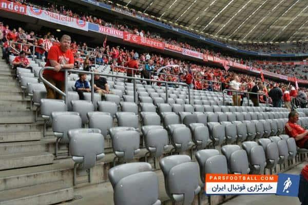 باشگاه والدبرون از تیم فوتبال بایرن مونیخ خواسته صندلی های طوسی رنگ را به ان ها بدهند