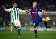 توماس فرمائلن مدافع تیم فوتبال بارسلونا در دیدار برابر بتیس دچار مصدومیت شد