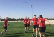 بازیکنان تیم فوتبال روبین کازان که شب گذشته (شنبه) برای برپایی اولین اردوی آمادهسازی زمستانی وارد امارات شده بود امروز تمرین سبکی برگزار کردند.