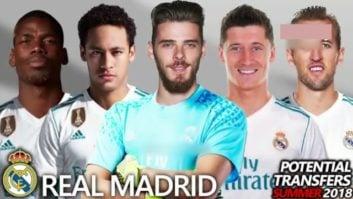 نقل و انتقالات احتمالی رئال مادرید در تابستان 2018