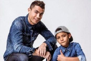 کریستیانو رونالدو ستاره رئال مادرید و پسرش