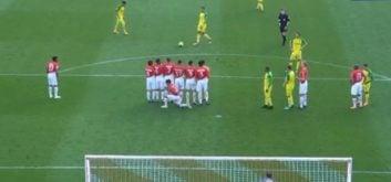 روش جالب بازیکنان موناکو برای چیدن دیوار دفاعی