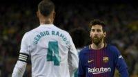 بارسلونا ؛ راموس کاپیتان رئال مادرید معتقد است مسی داور بازی را تحت فشار قرار داده است