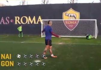 چالش پنالتی بازیکنان رم