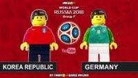 شبیه سازی لگو دیدار کره جنوبی و تیم ملی آلمان