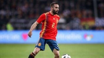 کارواخال مدافع تیم ملی فوتبال اسپانیا به تمرینات گروهی این تیم اضافه شد
