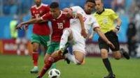 ابراهیمی ؛ تصویری از مصدومیت امید ابراهیمی بازیکن تیم ملی فوتبال در دیدار با مراکش