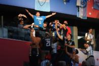 واکنش احساسی مارادونا به گل لیونل مسی