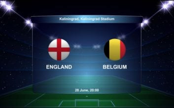پیش بازی انگلیس و بلژیک