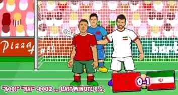 اتفاقات دور گروهی جام جهانی 2018 در قالب انیمیشن