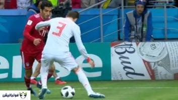 وحید امیری ؛ شوخی خنده دار با لایی وحید امیری به پیکه در دیدار ایران و اسپانیا در جام جهانی