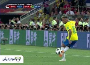 نیمار ؛ حرکات تکنیکی نیمار قبل و در جریان بازی برزیل برابر صربستان در جام جهانی