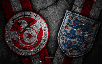 بازی تیم های تونس و انگلیس