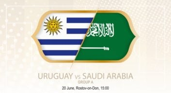 بازی اروگوئه و عربستان