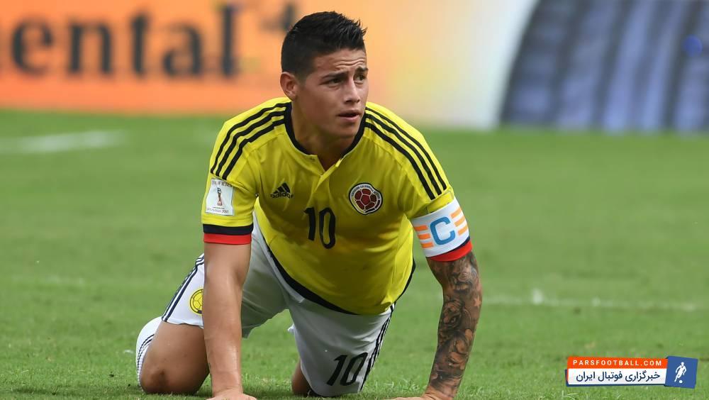 خامس ؛ مصدومیت خامس مهاجم تیم فوتبال کلمبیا جدی نیست و احتمال حضورش در دیدار با انگلیس وجود دارد