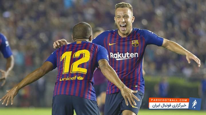 آرتور ملو خرید جدید بارسلونا در بازی برابر تاتنهام نمایشی درخشان داشت. بازی بارسلونا و تاتنهام
