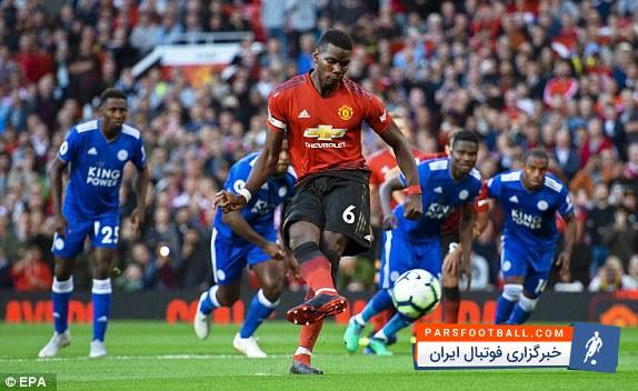 گلزنی پوگبا در شب پیروزی منچستریونایتد برابر لسترسیتی