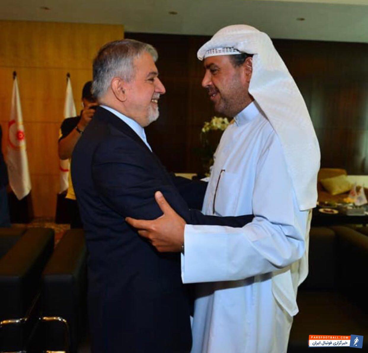 صالحی امیری رئیس کمیته ملی المپیک کشورمان است صالحی امیری با شیخ احمد الفهد الصباح رئیس شورای المپیک آسیا OCA دیدار و گفت و گو کرد.
