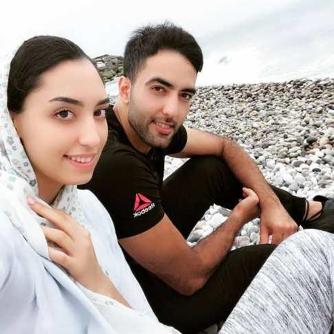 شباهت چهره کیمیا علیزاده به همسرش حامد معدنچی