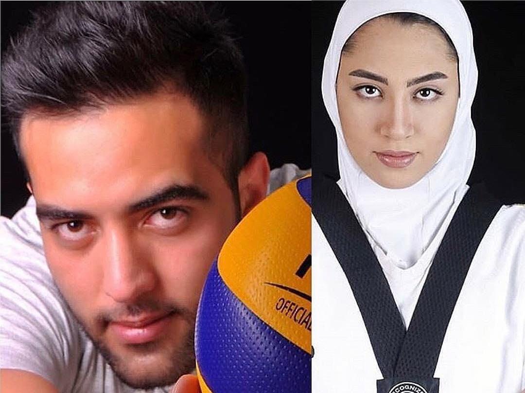 کیمیا علیزاده ؛ نصویری از کیمیا علیزاده و حامد معدنچی زوج جدید ورزش ایران