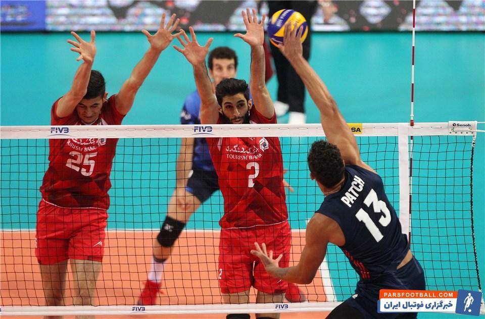 تیم ملی والیبال ایران - تیم ملی والیبال آمریکا