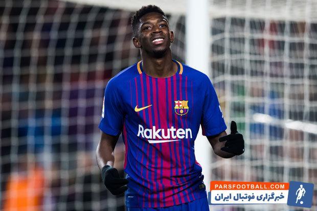 بارسلونا ؛ عثمان دمبله در دیدار برابر آیندهوون به روند گلزنی اش ادامه داد