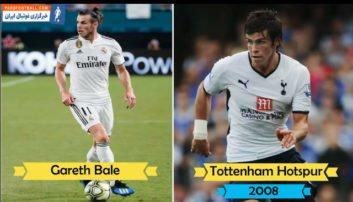 باشگاه های بازیکنان کنونی رئال مادرید در ده سال قبل
