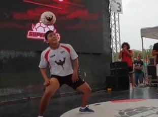 حرکاتنمایشی محمد اکبری در مسابقات سوپربال2018