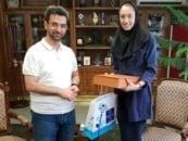 کیمیا علیزاده ؛واکنش آذری جهرمی وزیر ارتباطات به عکس جنجالی اش با کیمیا علیزاده