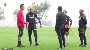 اولین روز تیری آنری در تمرینات باشگاه موناکو