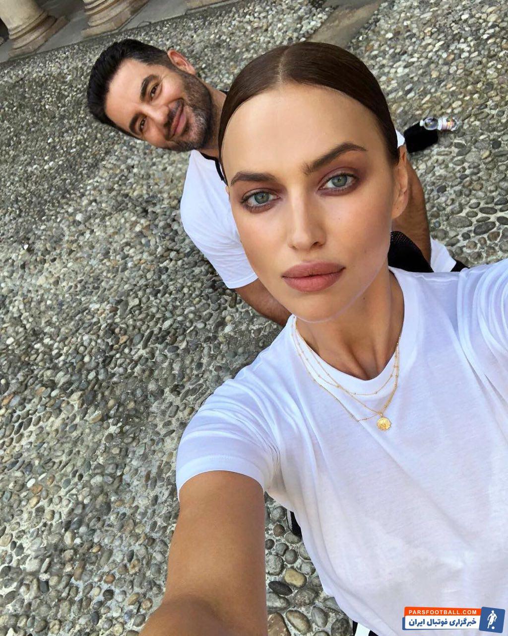 نامزد سابق کریستیانو رونالدو ایرینا شایک مدل معروف روسی که جدایی پر سر و صدایی از رونالدو داشت ، با علی کاووسی مدیر برنامه هایش در حال گردش و تفریح دیده شده است.