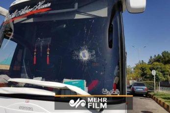 فیلم ؛ حمله و پرتاب سنگ به اتوبوس تیم کاشیما